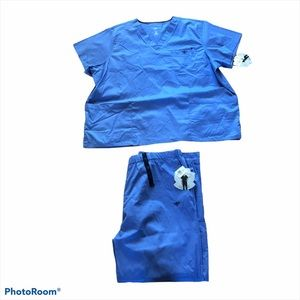 NEW Med Couture Solid Scrubs Set 3XL